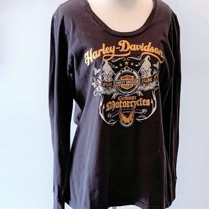 Harley-Davidson Tops - Harley Davidson Charcoal Long-Sleeved Tee - XL